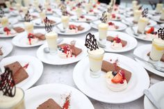 A trio of perfect wedding desserts, ready to be served