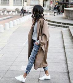 "parisfashionn: ""Coat Pant Sneaker """