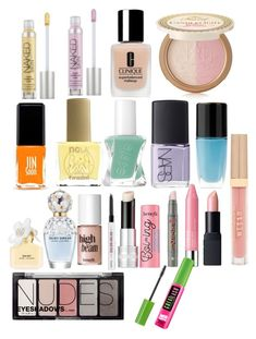 """""""Kira Yukimura Spring Beauty Products"""" by samtiritilli666lol on Polyvore featuring NARS Cosmetics, Essie, Lancôme, ncLA, Jin Soon, Clinique, Urban Decay, Too Faced Cosmetics, Benefit and Marc Jacobs"""