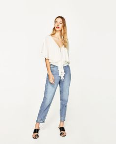 ZARA - WOMAN - CAPE SLEEVE BLOUSE WITH BOW