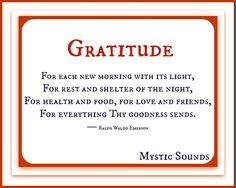 Gratitude quote via Www.Facebook.com/MysticSounds