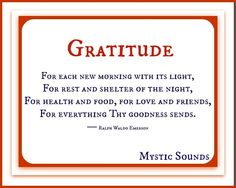Gratitude quote via Www.Facebook.com/MysticSounds
