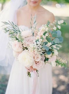 Photographer: The Great Romance; The most romantic wedding bouquet we've ever seen!