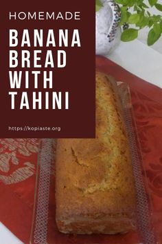 Banana Honey-Tahini Almond Bread is a twist to the classic cake,  made with ripe bananas and many healthy ingredients such as tahini, honey and almonds. #bananabread #bananacake #tahiniandbananabread Homemade Banana Bread, Make Banana Bread, Healthy Cake, Healthy Desserts, Healthy Food, High Protein Recipes, Protein Foods, Baking Recipes, Dessert Recipes