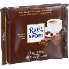 Ritter Sport Chocolate Bar - Milk Chocolate - Espresso - 3.5 Oz Bars - Case Of 12