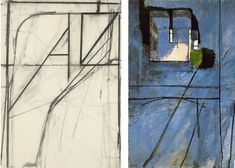 great juxtaposition of two great artists: Diebenkorn (L) & Matisse (R)
