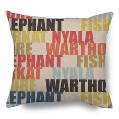 Multi Animal Alphabet – 45 x 45 cm Scatter Cushions, Throw Pillows, Animal Alphabet, Fresh Outfits, Buy Shoes, Best Brand, Fashion Online, Fashion Accessories, African