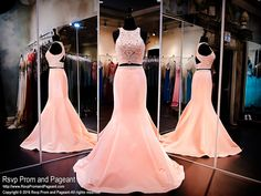 Coral Soft Satin Two Piece Mermaid Prom Dress-Beaded Crop Top-Racer at Rsvp Prom and Pageant, your source for the HOTTEST 2016 Prom and Pageant Dresses! Prom Dresses 2016, Pink Prom Dresses, Coral Dress, Mermaid Prom Dresses, Event Dresses, Pageant Dresses, Dance Dresses, Pretty Dresses, Beautiful Dresses