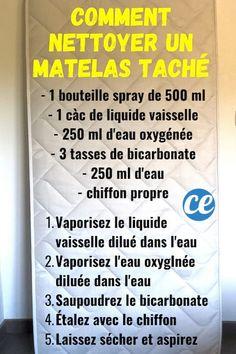 Comment Nettoyer un Matelas Taché & Jauni Au Naturel (En 10 Min). Home Organisation, Organization, Clean Bedroom, Konmari, Green Cleaning, The Body Shop, Better Life, Declutter, Clean House