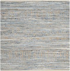 Cromwell Hand-Woven Natural/Blue Area Rug