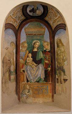 Maestro della Madonna del Ponterosso (forse Giovanni di Papino Calderini) - Tabernacolo del Proposto - affresco staccato da via Vecchia fiesolana - 1490-1510 ca. - Cenacolo del Fuligno, Firenze