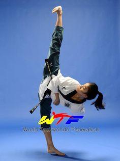 World Taekwondo Federation #kick #martialarts #martialartists artist unknown