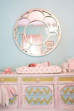 I saw a mirror similar to this at Home Goods.. after seeing this I am tempted to go buy it..