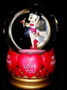 "Betty Boop Snow Globe San Francisco Music Box Co. ""I Wanna Be Love By You"" 1997"