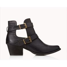 37e67d01f Forever 21 Cut Out Booties Super cute booties! Have tiny scuff marks on the  toes of both shoes.