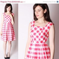 CYBER MONDAY SALE 50% Off 50s Dress / 50s Cotton by aiseirigh