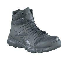 Reebok Mens Black Micro Mesh Seamless Tactical Boots Dauntless Soft Toe e4c3f3f82