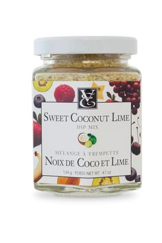 NEW! Sweet Coconut Lime Dip Mix - Dream of creamy beach cocktails with this desirable real blend of real coconut, organic cane sugar, and lively lime. Add a kick to your morning smoothie or freeze for ice cubes. #kosher #nosodium