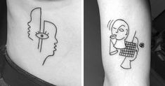 Artist Daisy Watston designs simple, surrealist tattoos inspired by modern artists like Pablo Picasso, Jean Cocteau, and Jean Arp.