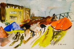 Naplavka Farmers Market, Prague by Adlai Burman