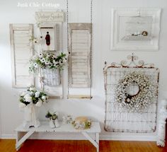 Junk Chic Cottage: Entry Way Reveal CUTE COUNT YOUR BLESSINGS IDEA