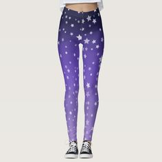 Ad: Some cute starry night themed leggings to fit comfortably on your legs! #leggings #purple #star #starry #stars #gradient #ombre #cozy #comfortable #legs Ombre Leggings, Cute Leggings, Purple Ombre, Leggings Fashion, Look Cool, Body Types, Dressmaking, Things That Bounce, Hand Sewing