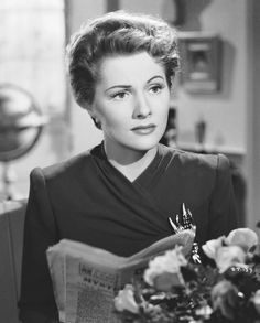 "Joan Fontaine in ""Suspicion"" (1940). Great neck line details."