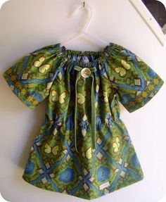 Little Girl Shirt including free pattern. Make in light weight fabric for Guinevere got burning man