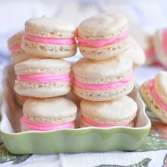 Basic Vanilla Macarons - simple and so pretty on the holiday cookie tray!