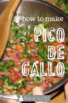 Mom with a PREP | Get your kids in the kitchen! Make some Pico de Gallo. Come on - give it a try-o