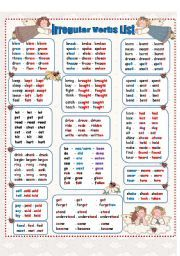 english irregular verbs french translation pdf