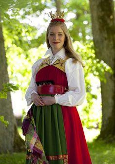 Festivity dress, Österåker parish, Södermanland county | Högtidsdräkt Österåker, Södermanland, Sweden