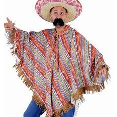 Costume Poncho Mexicain Adulte Deguisement Poncho Inca