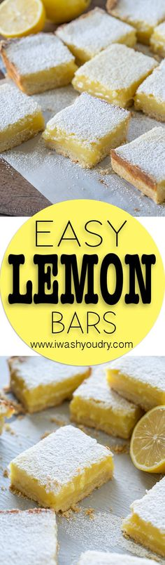 This Easy Lemon Bar Recipe was a HUGE hit! Everyone loved the flavor and texture out of these bars!
