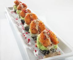 RACKin Roll (RA Sushi) - Kani kama crab & cream cheese rolled in rice &…