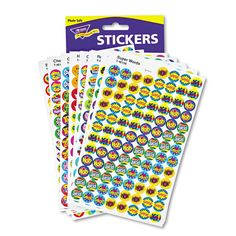 Trend SuperSpots and SuperShapes Sticker Variety Packs, Positive Praisers, 2,500/Pack, Multi Color