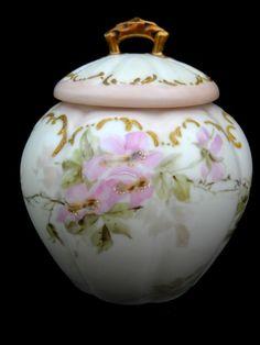 Limoges Porcelain Biscuit Jar