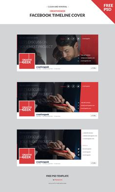 We are giving one more useful resource today.  Clean, creative & stylish minimal Facebook Timeline Covers PSD template with 3 options which grab others attention on your Facebook page is perfect suit for all.