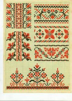 Cross Stitch Sampler Patterns, Cross Stitch Borders, Cross Stitch Rose, Cross Stitch Samplers, Cross Stitch Charts, Folk Embroidery, Filet Crochet, Hama Beads, Textile Art