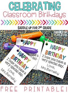 Celebrating Student Birthdays in the Classroom Celebrating classroom birthdays can be such a special time. Come see how my classroom celebrates and grab a FREE printable too! Classroom Birthday Gifts, Student Birthday Gifts, School Birthday, Student Gifts, School Gifts, Card Birthday, Birthday Bash, Birthday Ideas, 2nd Grade Classroom