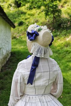 #Victorian 1860's Straw Bonnet Reproduction. #Millinery