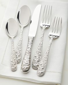 New Towle Hammersmith Soup Spoons Hammered Stainless Steel Set of Four