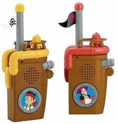 Gifts for Toddlers & Kids:  Super Fun Play Tents and Toys to Go With Them.   Jake and the Neverland Pirates Walkie Talkies (ages 3+) @ Amazon.