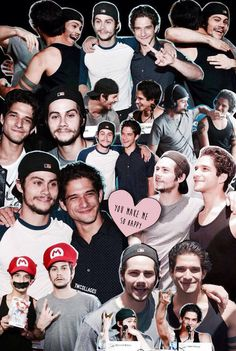 Dylan O'Brien and Tyler posey Teen Wolf Boys, Teen Wolf Stiles, Scott And Stiles, Dilan O Brien, Bae, Wolf Wallpaper, Dope Wallpapers, Tyler Posey, Dylan O