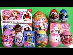 Giant Princess Kinder Surprise Eggs Disney Frozen Elsa Anna Minnie Mickey PlayDoh Huevos Sorpresa - YouTube