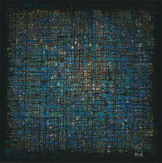 POUJOL Pierre Luc, né en 1963 N-135, 2013 Acrylique sur toile, signée en