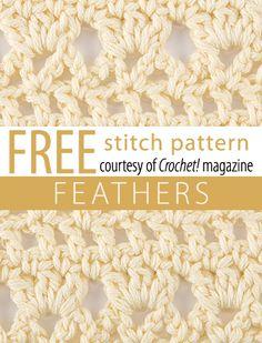 Crochet! magazine: Feathers Stitch Pattern.