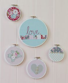 Stitch Craft Create: Blog: How-To: Simple Embroidery Hoop Art