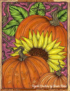 Artist : Deborah Muller Digital Creations by Shawn Bobar Digitally colored using Pigment, iPad Pro, Apple pen and sketchbookpro