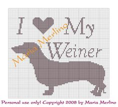 Crochet Humor | Preview This Free Crochet Pattern: Weiner (Daschund) Graph/Chart
